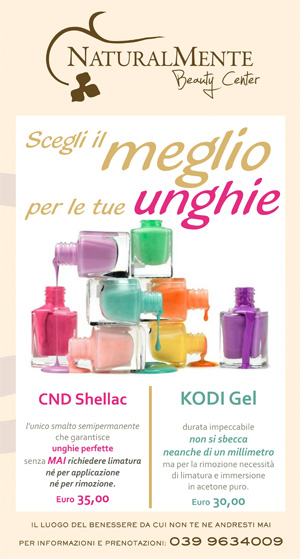 NaturalMente Beauty Salon - Centro Benessere a Monza: Manicure & Pedicure con Smalti Shellac